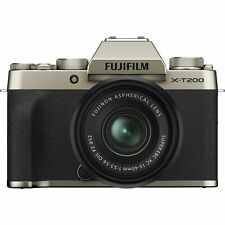 New Fujifilm X-T200 Digital Camera with 15-45mm Lens - Champagne Gold