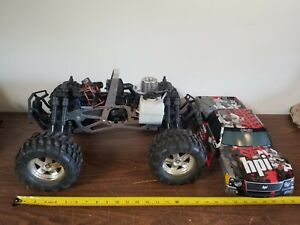 Hpi Savage X 4.6 Nitro Monster 4x4 Truck 1/8 Scale Untested For Parts RED