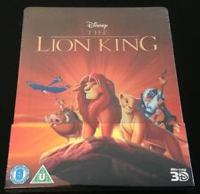 Disney THE LION KING 3D & 2D Blu-Ray SteelBook Region Free Zavvi UK 1st Ed. Rare