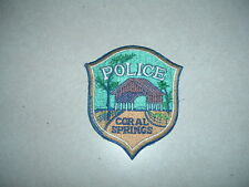 LAW ENFORCEMENT PATCH POLICE CORAL SPRINGS 4 INCHES