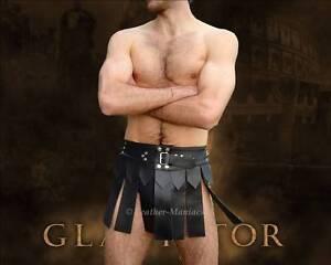Gladiator Rock Kostüm Leder-Kilt Lederkilt Russel Crow leather Gladiatorenrock
