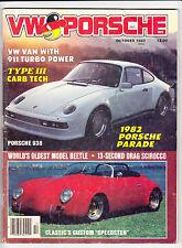 Oct 1982 VW & Porsche ARGUS Magazine Oldest Beetle Porsche 938 Scirocco Van Bus