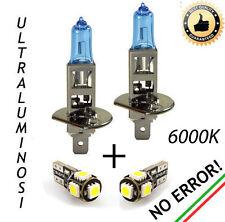 COPPIA LAMPADINE H1 EFFETTO XENON + COPPIA LUCI DI POSIZIONE 5 LED T10 CANBUS