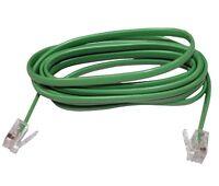 Câble cordon RJ11 6p4c vert pour téléphone Internet ADSL modem 2 mètres 2m C1413