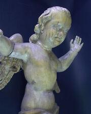 Expresión fuerte gran barroco putto 18. jhd-lindenholz tallada - 60 cm
