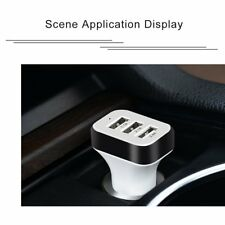 3 Port USB Smart Car Charger 28W Universal 5.6 Amp With Charge Wise Technology