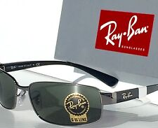 NEW* Ray Ban Gunmetal Silver w Green G-15 Lens Sunglass RB 3364 004 $180