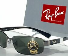 NEW* Ray Ban Gunmetal Silver w Green G-15 Lens Sunglass RB 3364 004 $180