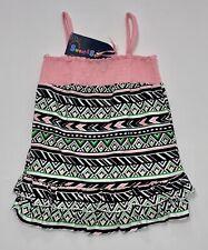 Nwt Sweet & Soft Paris Pink Green White Black Ruffled Smocked Sun Dress, 18 mos.