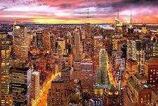 Puzzle mirada en manhattan, 3000 piezas, New York, rascacielos, Skyline, educa