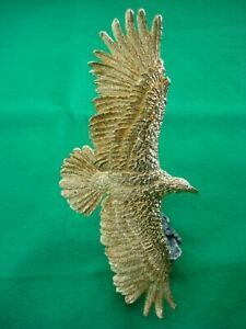 Golden Eagle Ornament made of heavy cast metal with gilded finish amazing detail