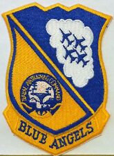 BLUE ANGELS SEAL PATCH US NAVY AIR TRAINING COMMAND  IRON ON Patch Gold & Blue