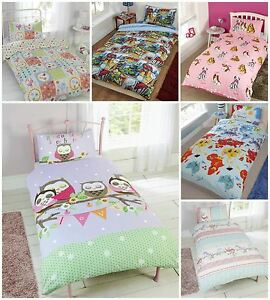 Childrens Kids Character Novelty Duvet Quilt Cover Sets - Many Designs and Sizes