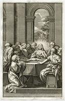 Antique Print-RELIGION-CHRIST-LAST SUPPER.-Anonymous-ca. 1750