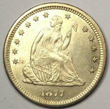 """1877 Seated Liberty Quarter 25C - Excellent Luster - """"Love Coin"""" - Rare!"""