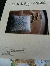 """Counted Cross Stitch Pattern by From The Heart """"Shabby Roses""""  new"""