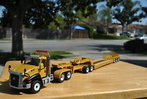 CUSTOM CAT CT660 Day Cab w/XL120 Low-Profile Flip Lowboy w/ dolly