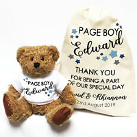 Wedding Teddy Bear Gift | Personalised | Page Boy Little Stars