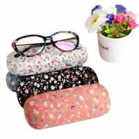Portable Sunglasses Hard Eyeglasses Case Glasses Protector Box Floral Pouch Case