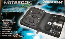 Notebook Kit optische USB Maus Tastenblock 4fach USB 1.1 Hub LED Lampe neu & OVP