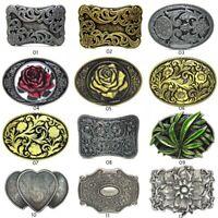 Vintage Western Cowboy Metal Celtic Flower Belt Buckle For Mens Leather Belt US