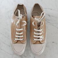 Candice Cooper Sneaker - Gr. 40 - beige-Lack - UNGETRAGEN