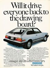 1982 Honda Accord Hatchback - Original Advertisement Print Art Car Ad J789