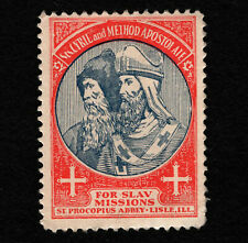 Opc Vintage Slav Missions St Procopius Abby Lisle Ill Poster Stamp Mng