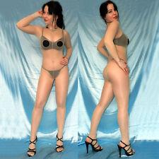 dünne NYLON Ganzkörper Strumpfhose* Brust ouvert Bodystocking Ganzanzug Overall