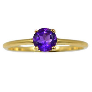 18k Gold Vermeil  Amethyst - African 925 Ring Jewelry s.6 BR108976