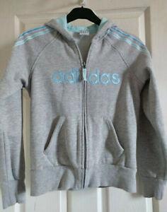 adidas Ladies Sweatshirt Hoodie Grey Size 14