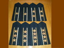 07's series China PLA Navy Officer Full Dress Hard Shoulder Boards,7 Pair,Set