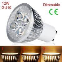 GU10 220V 12W Super Hell LED Stelle Lampen Licht Warmes Weiß Dimmbar Beleuchtung