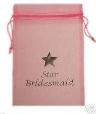 Pink Star demoiselle d'honneur Imprimé Organza faveur Sac-xorgbagslarge-lppob