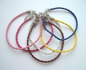 Plaited Leather Friendship Bracelet / Anklet - Various Colours
