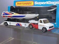 "MATCHBOX SUPERKINGS MODEL No.K-27 ""MISS SOLO"" POWERBOAT & TRANSPORTER   MIB"