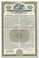 Lehigh Valley Railroad Company Bond Certificate