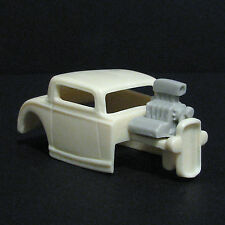 JF HO '32 Ford 3 Window Resin Slot Car Body - Fits 4 Gear  #34