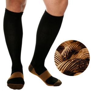 Flight Travel Copper Infused Compression Socks Knee High Varicose Veins Stocking