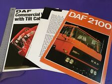 DAF 2100 Truck Brochure 1979 - UK Issue, RARE + 2 extras