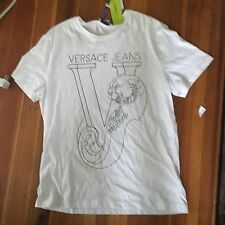 NWT NEW MENS SZ XL VERSACE GRAPHIC T-SHIRT WHITE
