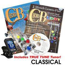 Chordbuddy Chord Buddy Guitar Teaching Aid Learning System Classical Wide Neck
