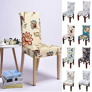 1-10xDining Chair Seat Covers Slip Stretch Wedding Xmas Banquet Party Slip Cover