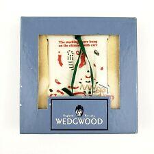 Vintage Wedgwood White Jasper Stockings Were Hung Christmas Ornaments