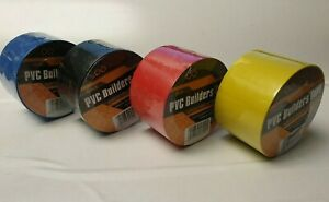 Builders PVC Tape 50mm x 33m  Suitable For Wood Concrete Plaster Electrical Work