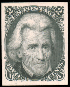 1861 2c BLACK JACK PLATE PROOF ON CARD #73P4 fresh hinge remnants $75.00