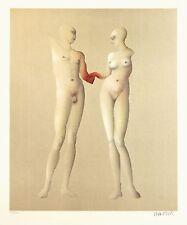 """Paul Wunderlich,""""Adam und Eva"""" (nach Ingres), 1981 Lithografie, handsigniert"""