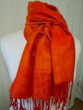 New in bag stunning pashmina floral & roses scarf, orange & darker orange