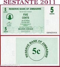 ZIMBABWE   -   5 CENTS  2006   -   PREFIX AA -  P  34  -  FDS / UNC
