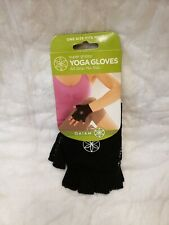 BRAND NEW! 1 Pair Gaiam Super Grippy Yoga Gloves One Size Fits Most Black